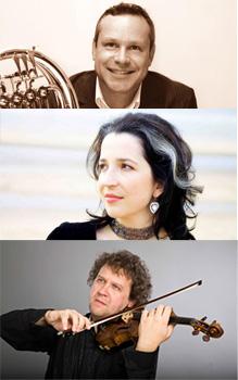Trio Petkova, Eschkenazy, De Waal spelen Roerarde, Dukas en Brahms
